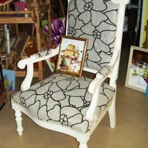 Restauración y decoración de sillón